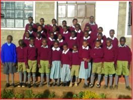 Group of Rafiki children in school uniforms