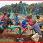 african children playing outdoors