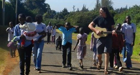 Dean Jesse Henry leads a group of Rafiki kids