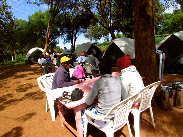 First medical camp in Nderi. The camp offered free treatment, basic lab services and free medications.