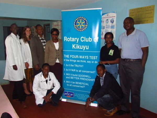 The medical providers along with members of Kikuyu Rotary Club. The Club helped support this medical camp by donating medications.